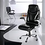 Life Carver Ergonomic High Back Swivel Desk Chair Executive Office Chair Black Computer PC gaming Chairs Padded Leather Adjustable Armrest