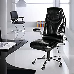 Life Carver Ergonomic High Back Swivel Desk Chair Executive Office Chair Blac