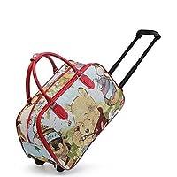 Womens Ladies Girls Printed Holdall Holiday Weekend Luggage Travel Trolley Pull Along Fashion Bag - G83
