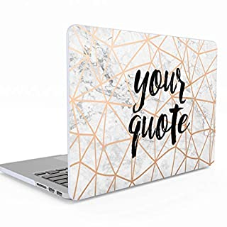 Personalisierte Schützhülle Marmor Personalised Customize Your Custom Zitat Text Or Name für MacBook Air 13 Zoll with Retina Display and Touch ID Model: A1932 Release 2018-2019 Hülle Hard Case Cover