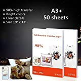 Best Iron On Transfer Paper For T Shirts - 50 Sheets/Pack Heat Transfer Sublimation Paper Sublimation Ink Review