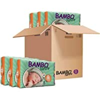 Bambo Nature Premium Baby Diapers - XXS Size, Monthly Pack 144 Count, for Premature Baby - Super Absorbent, Eco-Friendly…