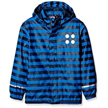 Legowear Boy's Jonathan Rain Jacket, Blue (Dark Navy), 10 Years (Size:140)