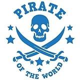Rayher Schablone Pirat, DIN A5, Gummi, Blau, 2,6 x 1,62 x 0,02 cm