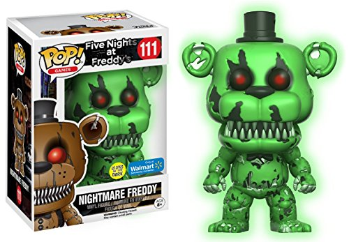 Five Nights At Freddy's Nightmare Freddy Green (Glow in the Dark) Vinyl Figure 111 Collector's figure Standard