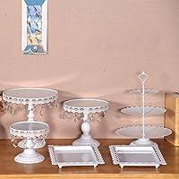 Quieting Cupcake Stand Display Dessert Holder Wedding Party Crystal 6PCS/Set Iron White