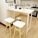 AJZXHE Wand-faltender Speisetisch, Hausbartisch, Tabelle und Stuhlkombination, Einfacher Desktop (Farbe : Table)