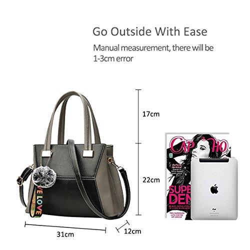 NICOLE&DORIS Neu Mode Damen Handtaschen Crossbody Tasche Schultertaschen Umhängetasche Reisetasche PU Grün Grau