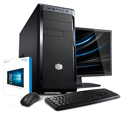 Premium PC Bundle mit TFT [184408] Intel G4500 2x3.5GHz, 16GB DDR4, 1TB SATA3, Intel HD 530 Grafik, ASUS, USB3, DVD, CR, Sound, WLAN, Maus, Tastatur, Win10