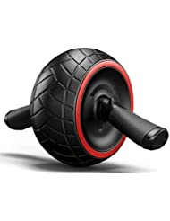 Tobaling Roue Abdominale Abdo AB Wheel Roller d'Exercice avec Tapis Epais pour Genou