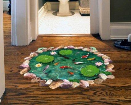 lotus wand simulation 3d wall - aufkleber bodenfliesen schlafzimmer wasserdichte wand aufkleber