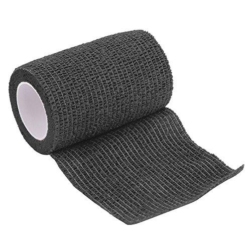 7.5cm × 5m selbstklebendes zusammenhängendes Band, erste Hilfe medizinische Gesundheitswesen-Behandlung-Gaze-elastische Binde (schwarz) (Elastische Medizinische Bänder)