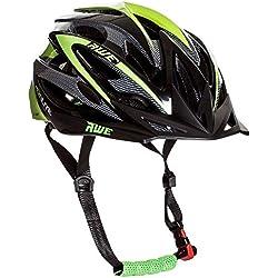 AWE® AeroLite Hombres de bicicleta casco–negro/verde, tamaño 56–58