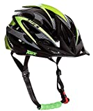 Awe® AeroLite Casco per bicicletta, per uomo, in nero e verde, taglia 56–58