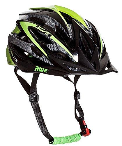 AWE Aerolite Casque de vélo pour Homme-Noir/Vert, Taille 58-61cm