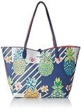 Desigual Pinacolada Capri Shoulder Bag NavyDati:o Materiale: 100% poliuretanoo Dimensioni: Larghezza di circa 49 cm, altezza di circa 29 cm, profondità 17 cmo Colore: Navy (blu / grigio / rosa)o Fabbricante: Desigual