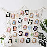 Foto hängende Anzeige Familien Bilder & Künstlerische Funktioniert Anzeige Fischernetz Bilderrahmen mit Mini Wäscheklammern zum Aufhängen von Fotos, Bildern, Postkarten und Kunst(Größe der Netze:2x1M)