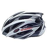 West Biking Unisex-Erwachsene Outdoor Sports Fahrrad Sicherheit Helm mit abnehmbarem Visier Karbonfaser Weiß Schwarz / Weiß