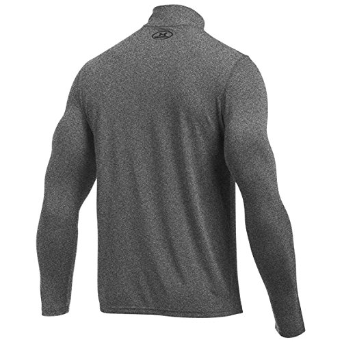 Under Armour HeatGear Threadborne 1/4 Zip Trainingsshirt Herren Black/Black