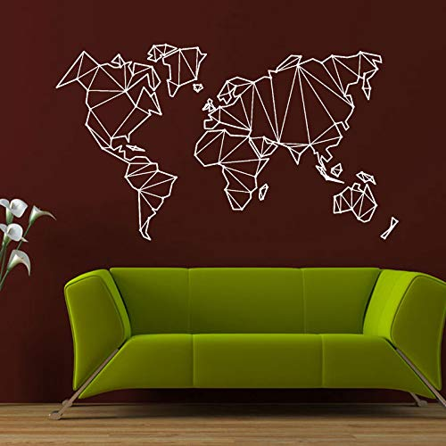 Earth Boost (Abstract Map World Geography Earth Stickers Vinyl Wall Decals Nautical Home Decor Living Room Self-Adhesive Wallpaper67x43cm)