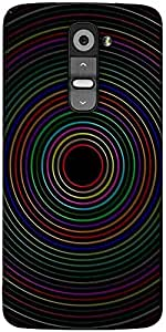 Snoogg Circular Designer Protective Back Case Cover For LG G2