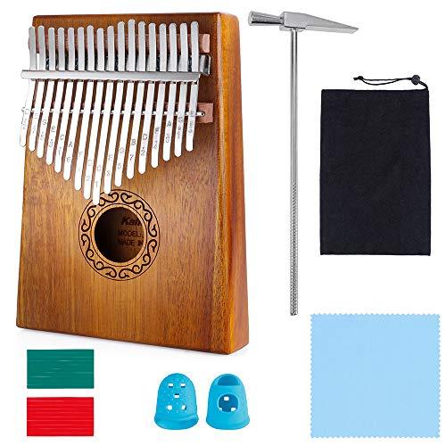 Nabance Kalimba 17 Schlüssel Daumenklavier with Stimmhammer and 7 Accessories Professionelles Musikinstrument von Hoher Qualität Ideal for Beginners and Specialists Kinder Musikinstrumente