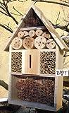 Gartendeko Nistkasten 50 cm groß hell für Marienkäfer Schmetterling Insektenhotel als Ergänzung zum Meisen Nistkasten Meisenkasten oder zum Vogelhaus Vogelfutterhaus Futterstation für Vögel, als umweltfreundliches Mittel gegen Blattläuse, ideal für die Beobachtung von Insekten Schmetterlingen Marienkäfer usw. biologische Blattlausbekämpfung, ein toller Insektenkasten - Insektenhaus - Schmetterlingskasten - Marienkäferkasten - Schmetterlingshaus - Gartendeko - Gartendekoration