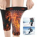 Ginocchiere Warm Knee Support Ginocchiere Riscaldanti Autoriscaldanti per Alleviare Il Dolore Articolare, Terapie Termoterapia Bendaggio Ginocchiere Ginocchiere (Nero/M)