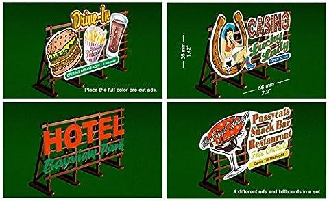 Bachmann 39103 Laser-Cut Outdoor Billboard Kit (4) HO, 39103