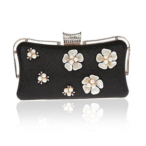 Moda fiore borsa da sera/ strass Party Pack/Pochette-B B