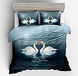 Comodo copripiumino e federe, è l'ideale per illuminare la tua camera da letto e regalarti un dolce sogno.  3 pezzi I prodotti includono: 1 * copripiumino + 2 * federe;  Dettagli 140x200 cm -- 1 * copripiumino ( 140*200 cm), 2 * federe (50*75cm) 18...