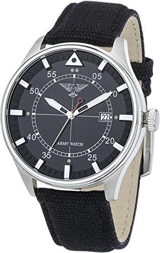 Eichmüller Army Watch EP551 10ATM Aviator - Flieger Uhr