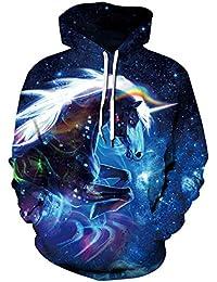 Loveternal Unisex 3D Druck Hoodie Drawstring Taschen Long Sleeve Sweatshirt
