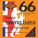 Rotosound Swing Bass Jeu de 5 cordes pour basse Acier inoxydable Filet rond Tirant medium light (35 55 70 90 120) (Import Royaume Uni)