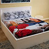Story@Home 3D Printed Bedsheet for Double Bed Cotton with 2 Pillow Covers Combo for Queen Size Bed - Picasso Series, 152 TC, Scenic (Multicolor)