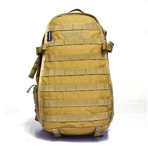 YAKEDA®Outdoor-Freizeit-Reise-Bergsteigen Taschen Military Rucksack Computertasche Schultasche Mode im Freien Sporttasche militärische Überschuss Rucksäcke Armee Rucksäcke 40L - A88043 (desert camoufl Mud color