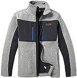Teenking Jungen Jacket Kinderjacke Mantel Fleece Funktionsjacke, Hellgrau / Holzkohle-1, 8-9 Jahre (130)