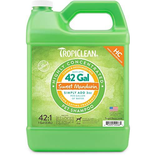 Tropiclean Sweet Mandarin Shampoo für Haustiere, hohe Konzentrate, L -
