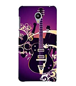 printtech Guitar Colored Pattern Back Case Cover for Meizu m2 note