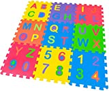 SELEZIONE100 Tappeto Bambino Tutte Lettere e Numeri in Gomma EVA Colorata 32x32