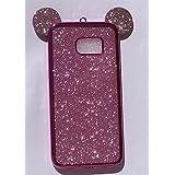 Coque pailletée Rose style Minnie Mouse Galaxy S7 EDGE
