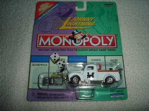 johnny-lightning-monopoly-reading-railroad-ford-truck-white-replica-w-exclusive-bonus-miniature-meta