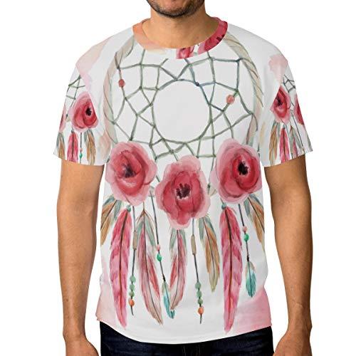 FANTAZIO - Camiseta de Manga Corta para Hombre, diseño de atrapasueños 1 XXL