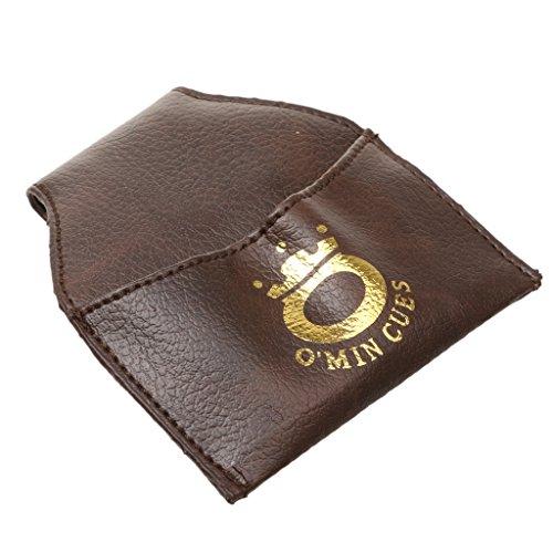 PU-Leder Billard Snooker Kreidehalter, Billiardkreide Halter / Tasche / Beutel mit Gürtel Clip - Kaffee