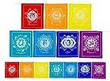 Strang Gebetsfahne mit Chakrasymbole Gebetsfahnen 21 x 21 cm 160 cm
