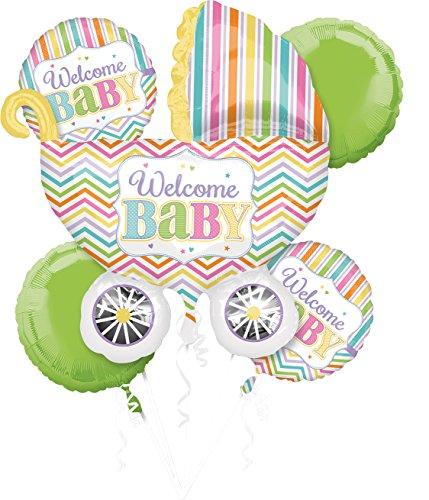Amscan 3091701 Folienballon Set Baby, mehrfarbig