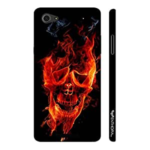 Micromax Canvas Hue 2 A316 Skull on Fire designer mobile hard shell case by Enthopia