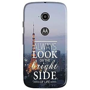 Bhishoom Designer Printed Back Case Cover for Motorola Moto E2, Motorola Moto E Dual SIM (2nd Gen), Motorola Moto E 2nd Gen 3G XT1506, Motorola Moto E 2nd Gen 4G XT1521 (Positive Attitude Quote)