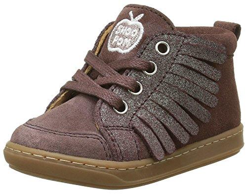 Shoo Pom Bouba L F, Chaussures Premiers Pas Bébé Fille, Marron (Mascara Prune/Platine), 20 EU