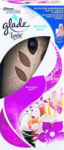 Glade By Brise Automatisches Duftspray, Für sofortige Frische in allen Räumen, Mit Nachfüller (269 ml), Batteriebetrieben, Entspannender Relaxing Zen-Duft
